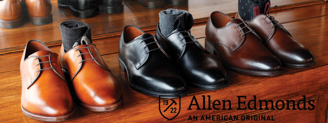 Come try on our excellent selection of allen edmonds shoes for Custom t shirts fort wayne