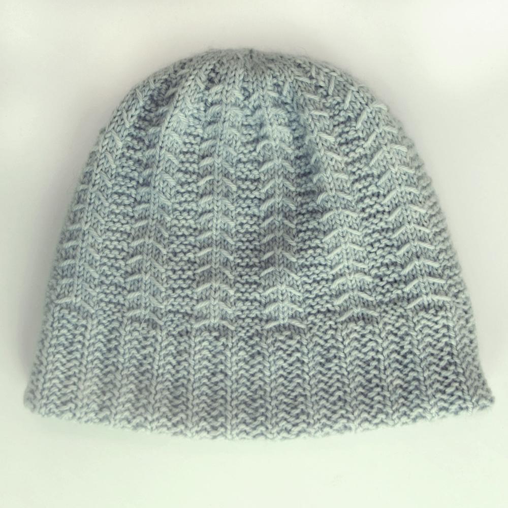 gray winter hat