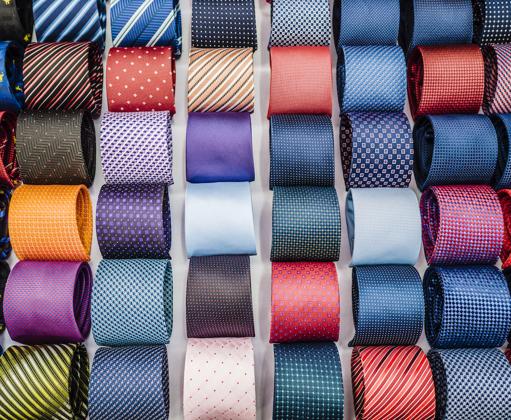 assorted colorful ties