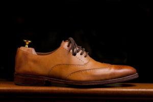 brogue shoe with a shoe tree